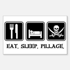 Eat. Sleep. Pillage. Rectangle Stickers