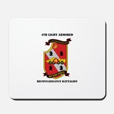 4th LAR Battalion with Text Mousepad