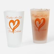 Personalize Leukemia Drinking Glass