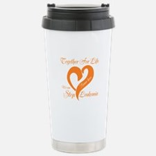 Personalize Leukemia Stainless Steel Travel Mug