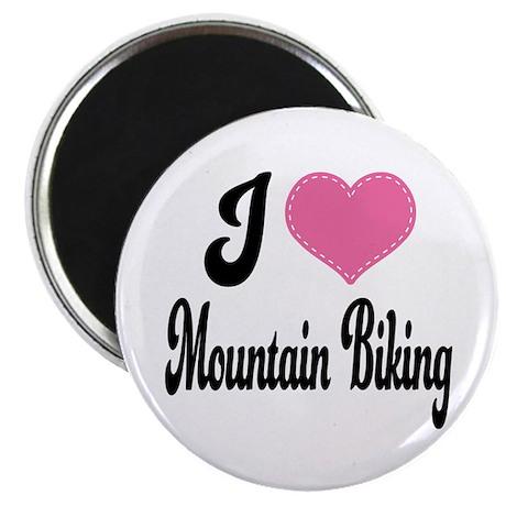 I Love Mountain Biking Magnet