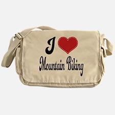 I Love Mountain Biking Messenger Bag
