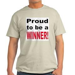 Proud Winner Ash Grey T-Shirt