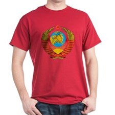 USSR Coat Of Arms Black T-Shirt