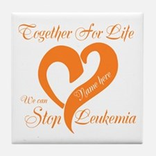 Stop Leukemia Tile Coaster