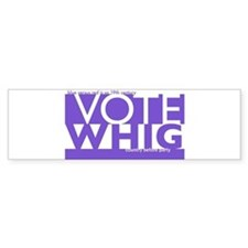 Vote Whig purple merged Bumper Sticker