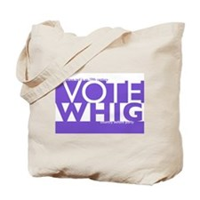 Vote Whig purple merged Tote Bag