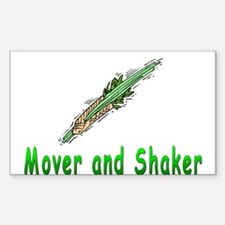 Jewish Mover and Shaker Rectangle Decal