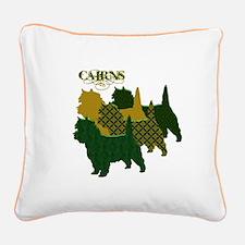 Cairn Terrier Silhouttes Square Canvas Pillow