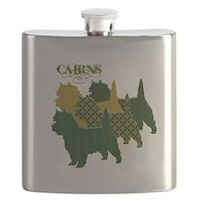 Cairn Terrier Silhouttes Flask