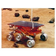 Model of the Mars Pathfinder rover Sojourner Poster