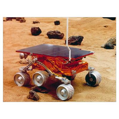 Model of the Mars Pathfinder rover Sojourner Poster