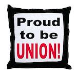 Proud Union Throw Pillow