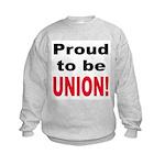 Proud Union (Front) Kids Sweatshirt