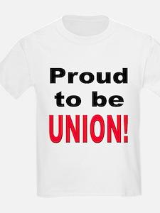 Proud Union (Front) Kids T-Shirt