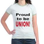 Proud Union (Front) Jr. Ringer T-Shirt