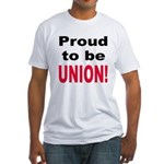 Proud Union (Front) Fitted T-Shirt