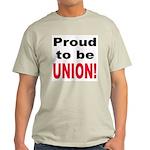 Proud Union (Front) Ash Grey T-Shirt