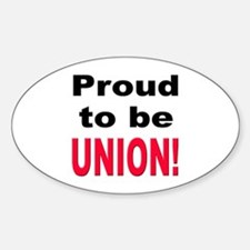 Proud Union Oval Decal
