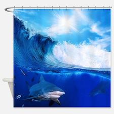 Shark Wave Shower Curtain