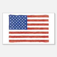 Watercolor USA Flag: Rectangle Decal