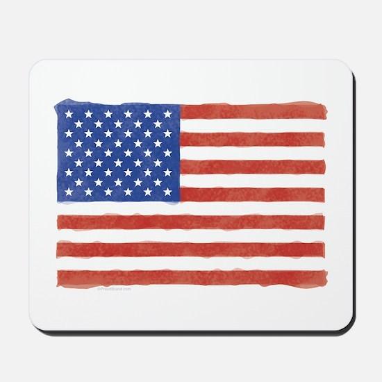Watercolor USA Flag: Mousepad