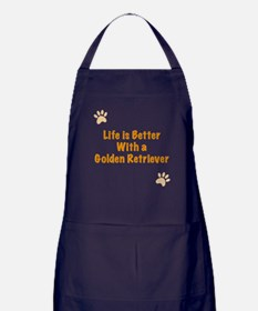 Life is better with a Golden Retriever Apron (dark