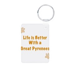 Life is better with a Great Pyrenees Aluminum Phot