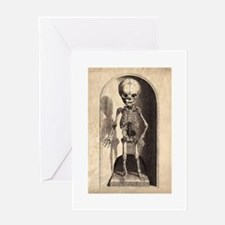 Skeletal Child Alcove Greeting Card