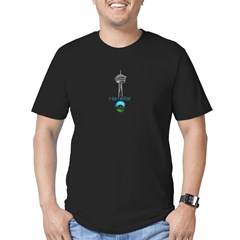 Hemisfair Stacked Men's Fitted T-Shirt (dark)