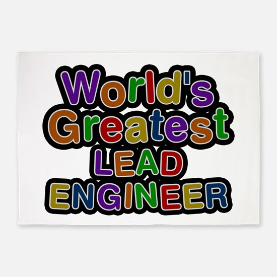 World's Greatest LEAD ENGINEER 5'x7' Area Rug