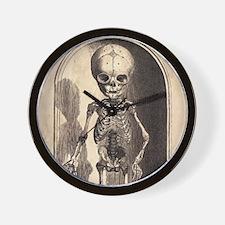 Skeletal Child Alcove Wall Clock