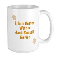Life is better with a Jack Russell Terrier Ceramic Mugs