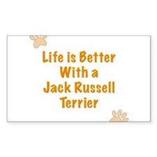 Life is better with a Jack Russell Terrier Decal