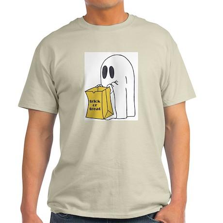 Trick or Treat Ghost Ash Grey T-Shirt