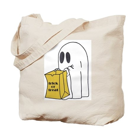 Trick or Treat Ghost Tote Bag