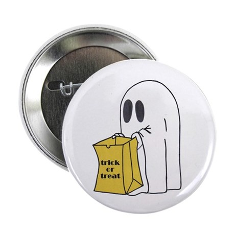 Trick or Treat Ghost Button