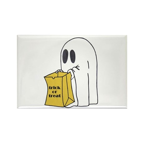 Trick or Treat Ghost Rectangle Magnet (100 pack)