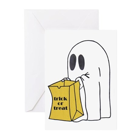Trick or Treat Ghost Greeting Cards (Pk of 10)