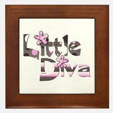 Little diva baby girl gift Framed Tile
