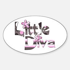 Little diva baby girl gift Oval Decal