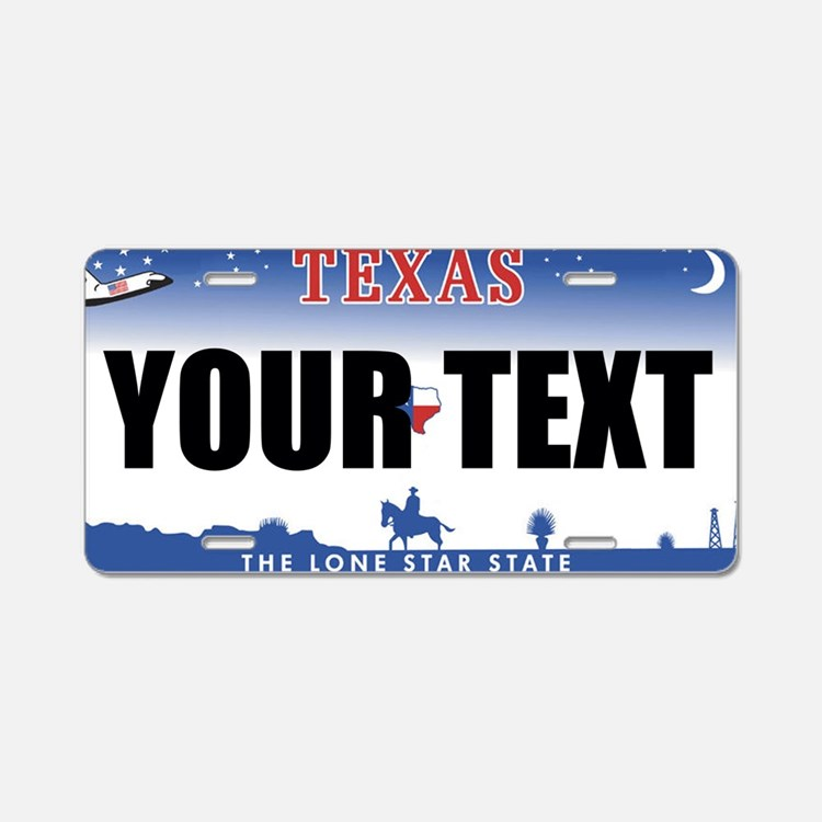 Texas Custom License Plate