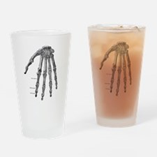 Skeleton hand Drinking Glass