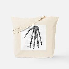 Skeleton hand Tote Bag