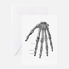 Skeleton hand Greeting Card