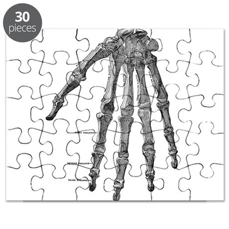 Skeleton hand Puzzle by mansionmarket