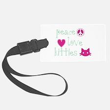 Peace Love Kitties Luggage Tag