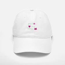 Peace Love Kitties Baseball Baseball Cap
