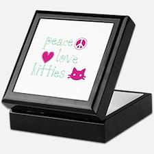 Peace Love Kitties Keepsake Box