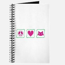 Peace Love Kitties Journal